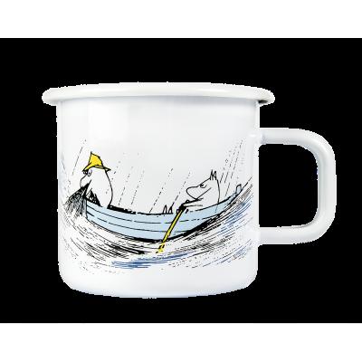 Moomin Кружка эмалированная Ушел рыбачить, 370 мл