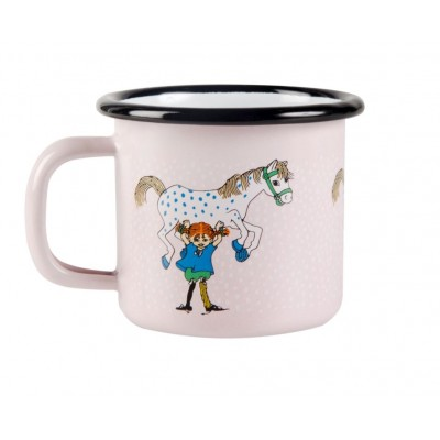 Pippi Кружка эмалированная Pippi and the Horse, 150 мл