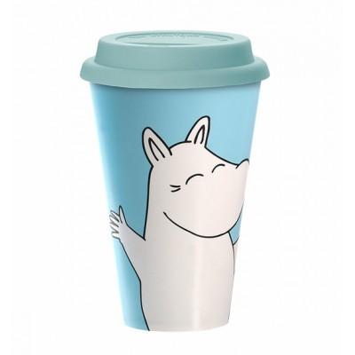 Кружка на вынос Moomin Счастливый Муми-тролль 450 мл