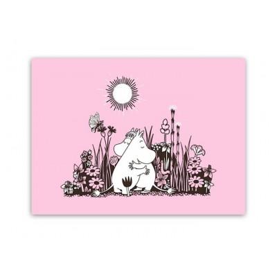 Настольный коврик Moomin Объятия Pink 40x30 см