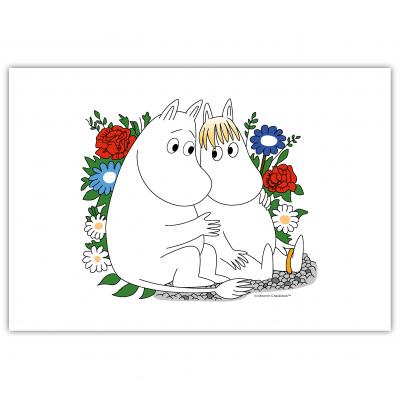 Настольный коврик Moomin Муми-Тролль и Фрекен Снорк в цветах 40x30