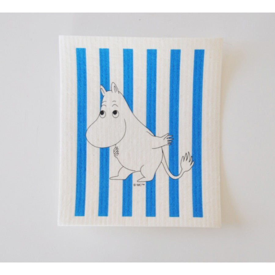 Кухонная салфетка Moomin Муми-Тролль в полоску blue