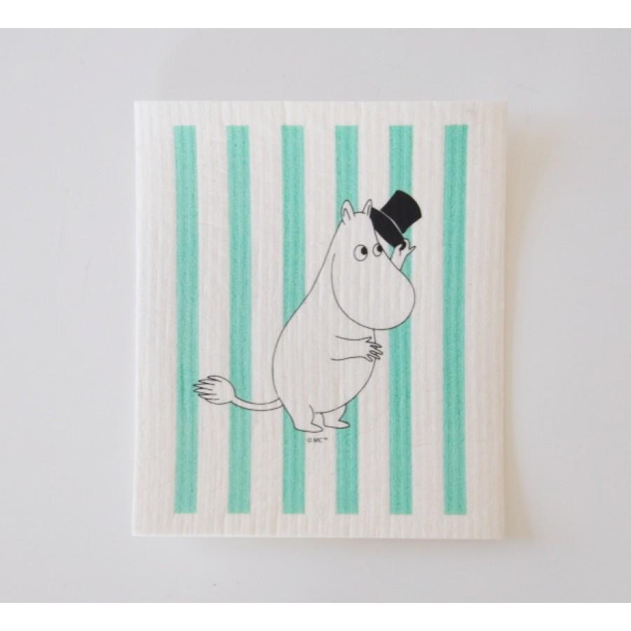 Кухонная салфетка Moomin Муми Папа в полоску green