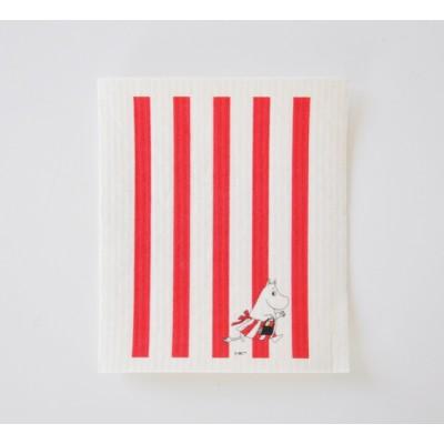 Кухонная салфетка Moomin Муми Мама в полоску red
