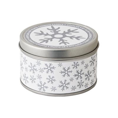 Свеча в жестяной банке Snowflake