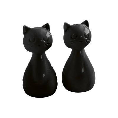 Набор для соли и перца Cat Black