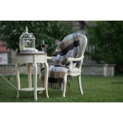 Столик овальный белый Provence