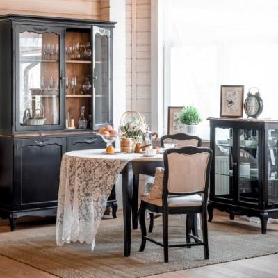Стул с мягким сиденьем черный Provence