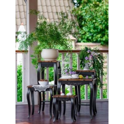 Комплект столиков черный Provence