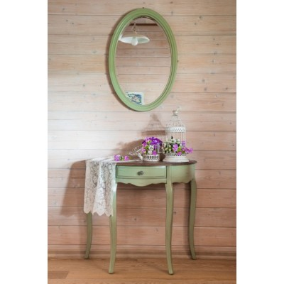 Зеркало овальное зеленый Provence