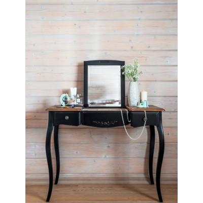 Макияжный столик с зеркалом черный Provence