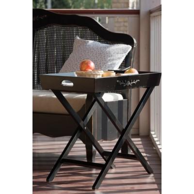 Столик раскладной черный Provence