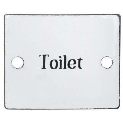 Металлическая табличка Toilet
