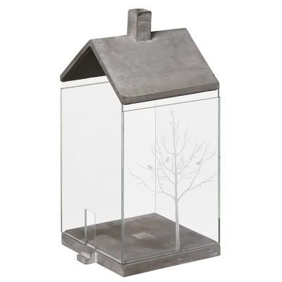 Raeder Подсвечник Стеклянный дом с деревом