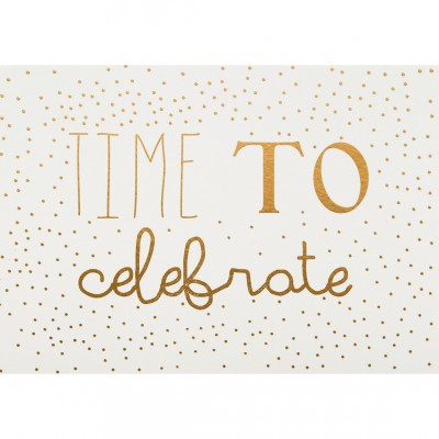 Новогодняя открытка Time to celebrate