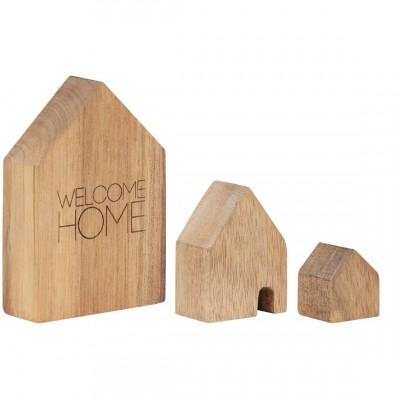 Набор деревянных домов Welcome Home 3 шт