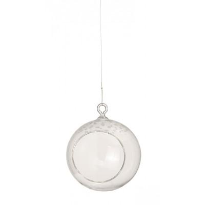 Стеклянный шар Snow frosted