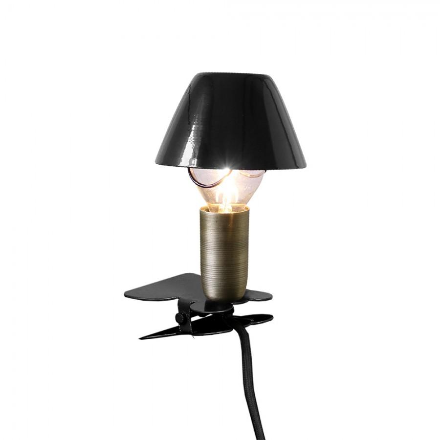 Лампа с зажимом Mini On Clip Black