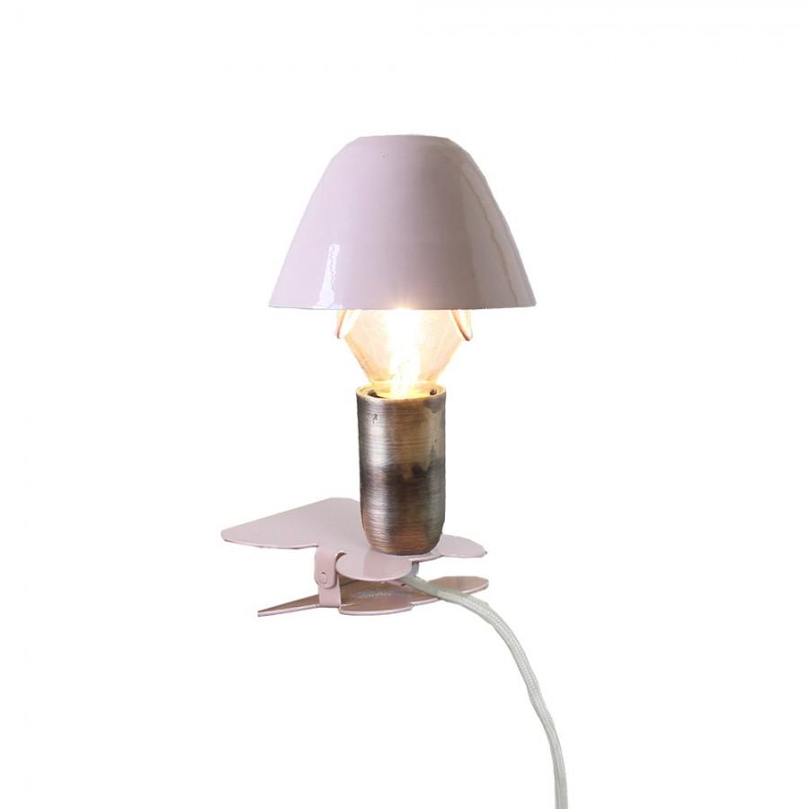 Лампа с зажимом Mini On Clip Pink
