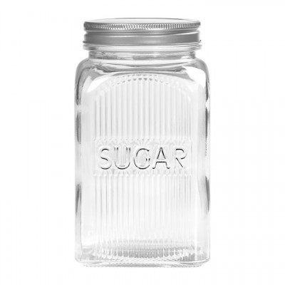 Банка для хранения сахара стеклянная