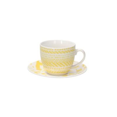 Чайная пара для капучино Iris Alicia 200 мл желтый