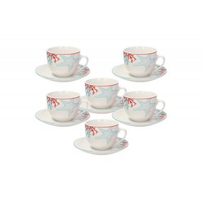 Набор чайных пар Metropol Alyssa 260 мл - 6 шт.
