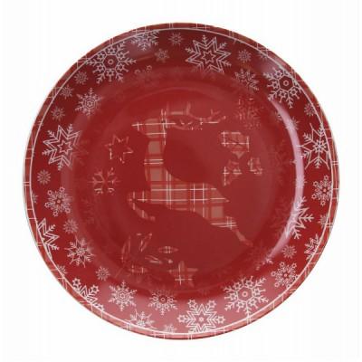 Блюдо Natale Renna Rossa 30 см