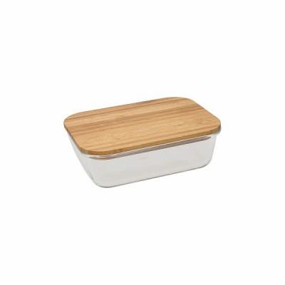 Стеклянный контейнер с деревянной крышкой Natur Lo Wooden 17х12х6 см
