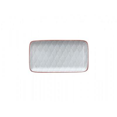 Блюдо сервировочное Portata Delhi Grey 21x11,5 см