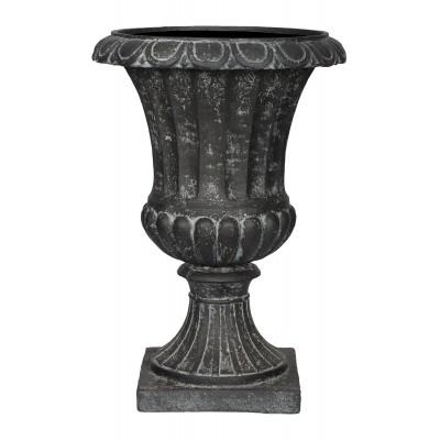 ГРАСС, уличная ваза 21*21*30, чёрное серебро