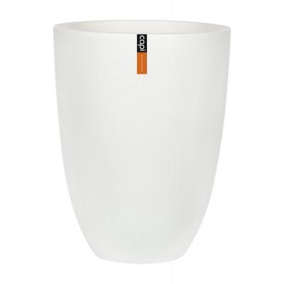 ЭЛЕГАНТ, уличный вазон 36*47, белый мрамор