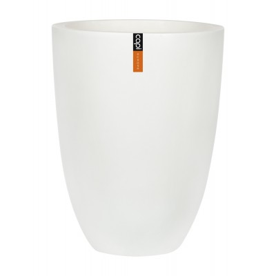 ЭЛЕГАНТ, уличный вазон 46*58, белый мрамор