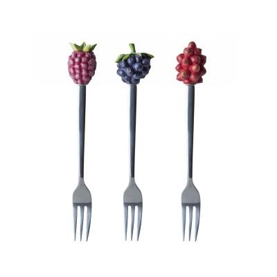 Вилка десертная M.BASTIN Полевые цветы, набор 3 шт