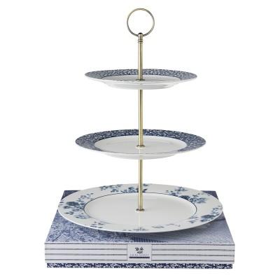 Подставка для торта 3 слоя LAURA ASHLEY China Rose 26 см, Sweet Allysum 21 см, Floris 18 см