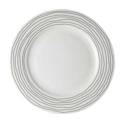 Тарелка DUTCH ROSE Черная волна 26 см