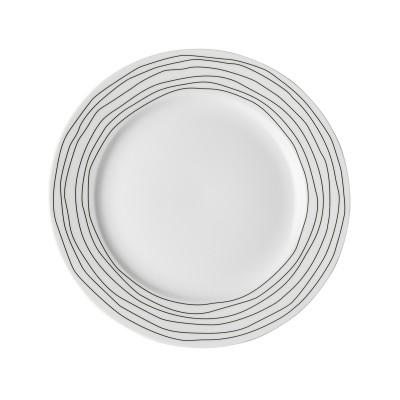 Тарелка DUTCH ROSE Черная волна 21 см