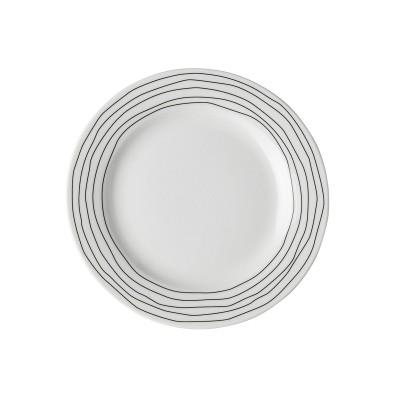 Тарелка DUTCH ROSE Черная волна 18 см