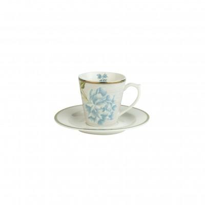 Кофейная пара эспрессо LAURA ASHLEY Cobblestone Pinstripe, 90мл
