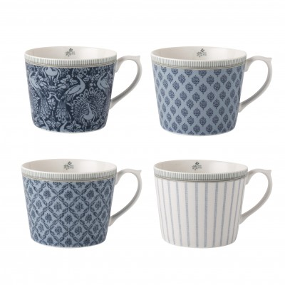 Набор кружек Laura Ashley Blue Tea Collectables  30 мл 4 шт