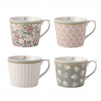Набор кружек Laura Ashley Yellow Tea Collectables 30 мл 4 шт