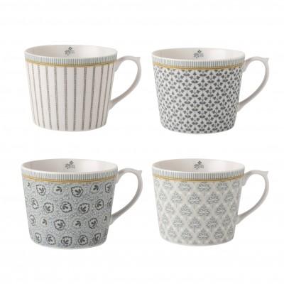Набор кружек Laura Ashley Grey Tea Collectables 30 мл 4 шт