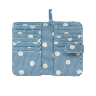 Бумажник на молнии Spot Cream Blue