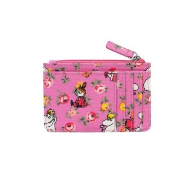 Маленький кошелек для карточек и монет Moomins Linen Sprig Pink