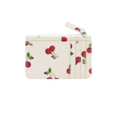 Маленький кошелек для карточек и монет Cherries Ivory
