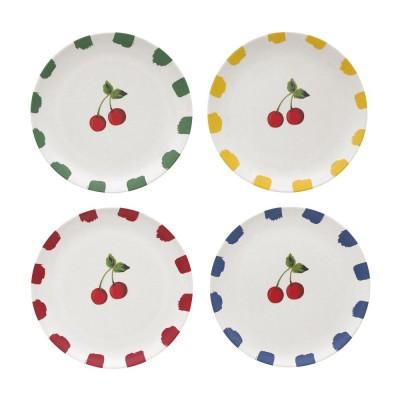 Набор из тарелок 4 шт Cherries Ivory