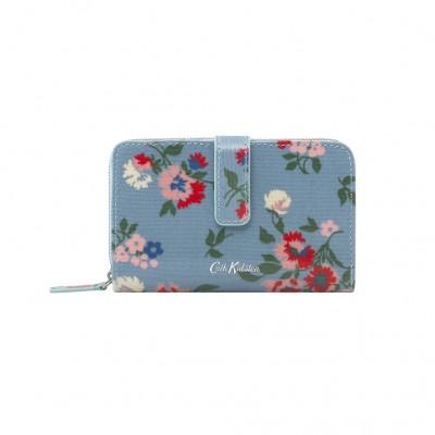 Бумажник на молнии Summer Floral Light Blue