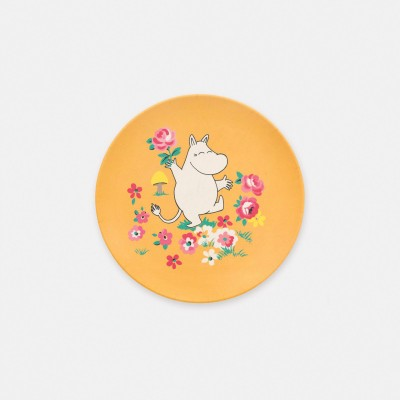 Детская тарелка Moomins Mushroom Scenic Yellow