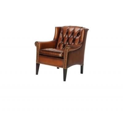 Кресло кожаное, с подголовником Lilac