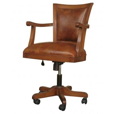 Кресло кабинетное, кожаное Lilac
