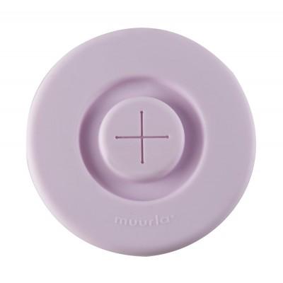 Силиконовая крышка с отверстием для трубочки, светло-розовая